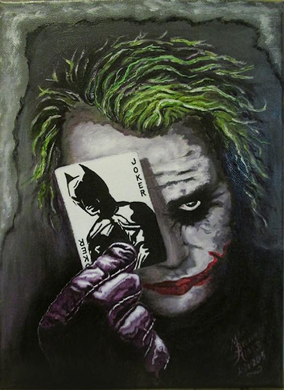 """Joker 1"" original fine art by Mary Sylvia Hines"