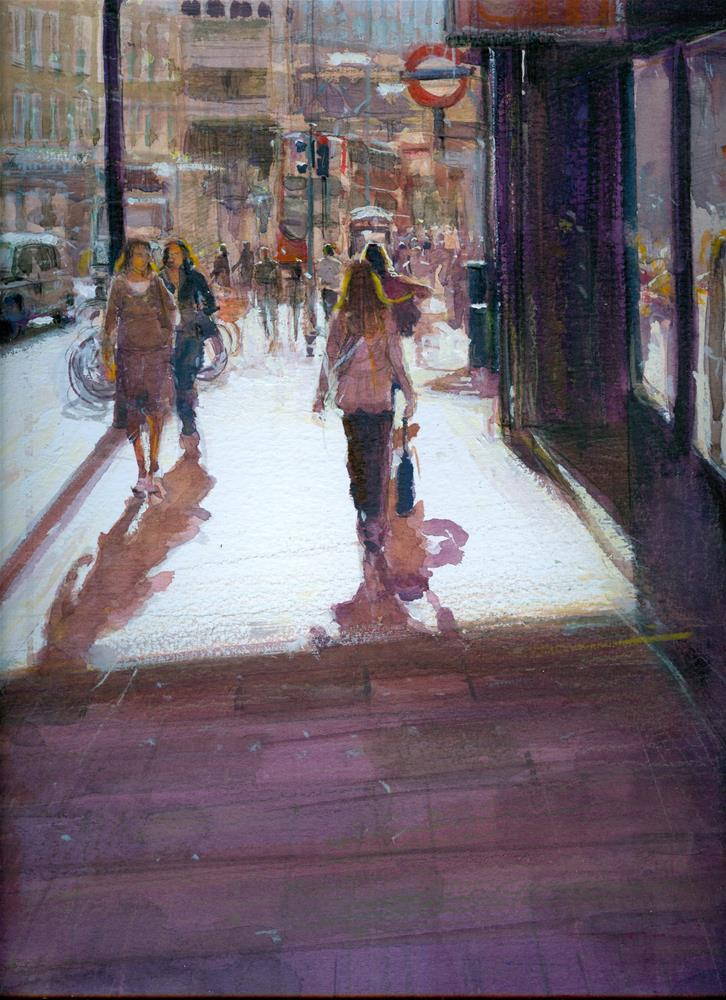 """London Bridge , Tooley Street side"" original fine art by Adebanji Alade"