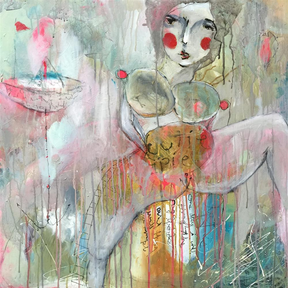 """160 Cutie Pie"" original fine art by Jenny Doh"