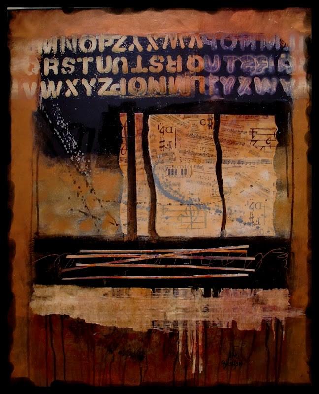 """OPERETTA"" 12017 mixed media contemporary textured abstract painting © Carol Nelson Fine Art original fine art by Carol Nelson"