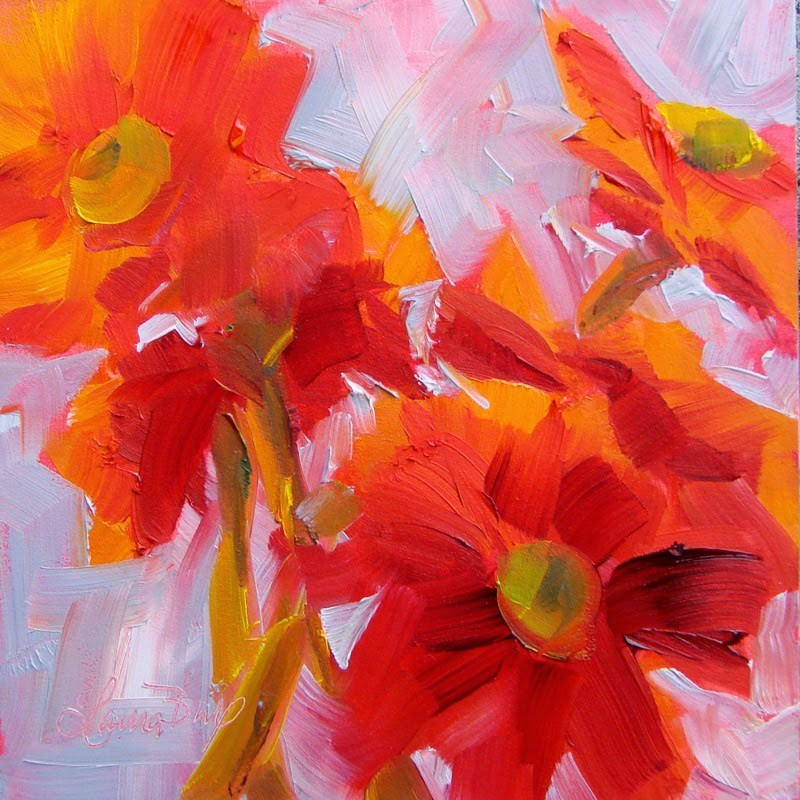 """End of Red 147"" original fine art by Laura  Buxo"