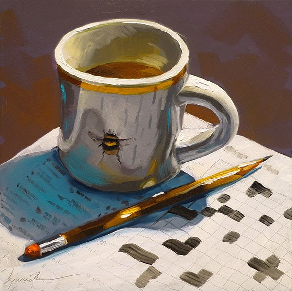 """Crossword"" original fine art by Karin Jurick"