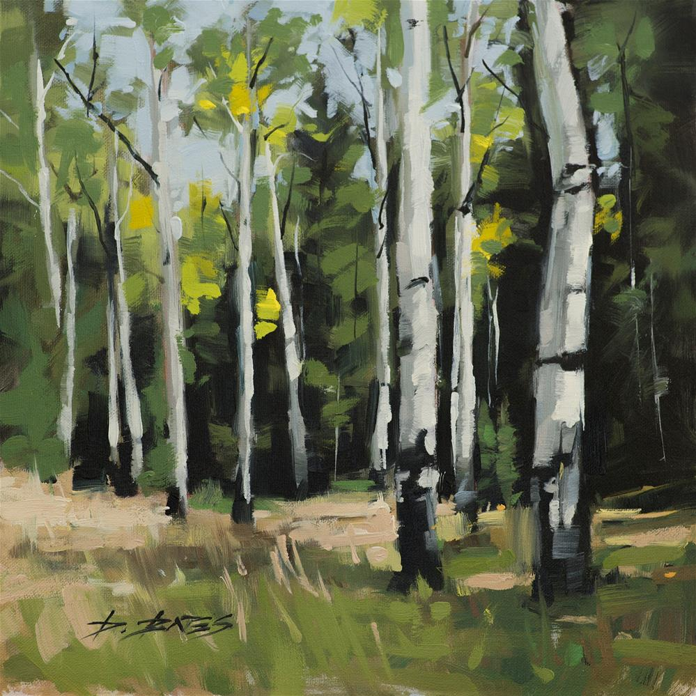 """Aspens Ready"" original fine art by David Bates"
