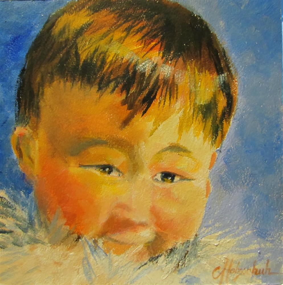 """A Mother's Joy"" original fine art by Christine Holzschuh"