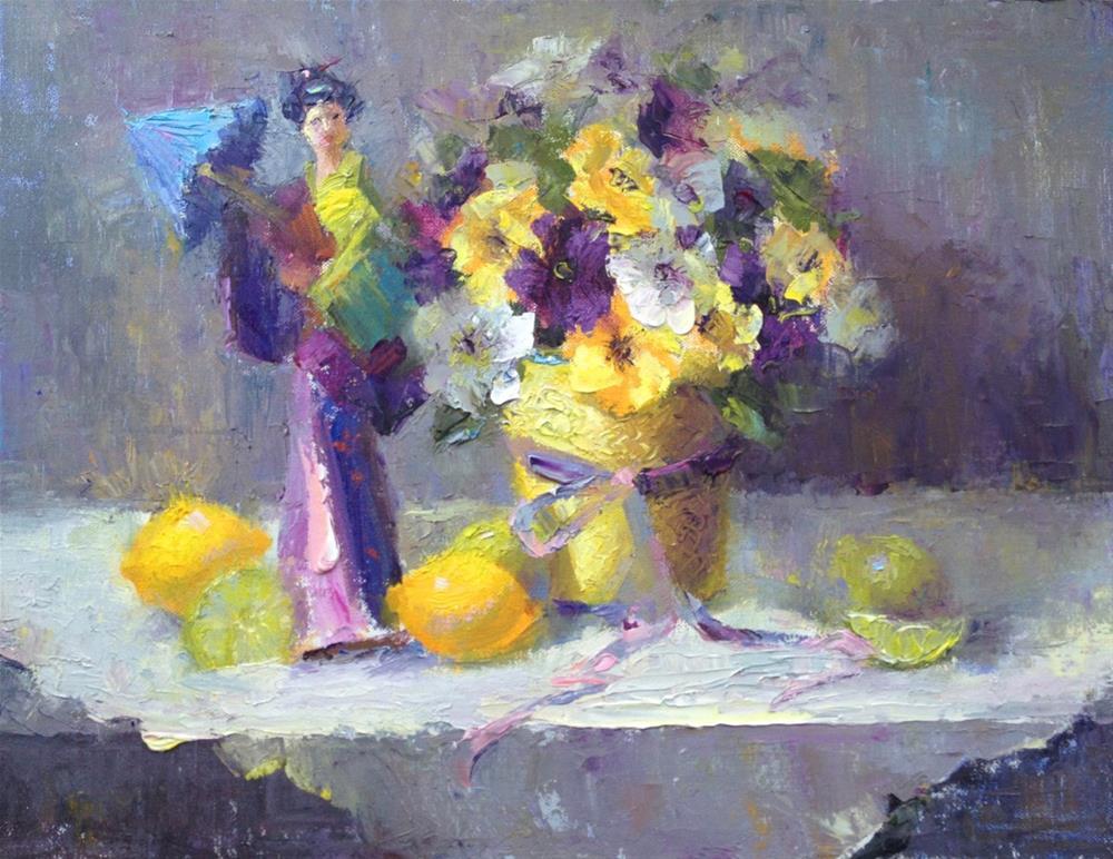 """From The Garden"" original fine art by Johanna Spinks"