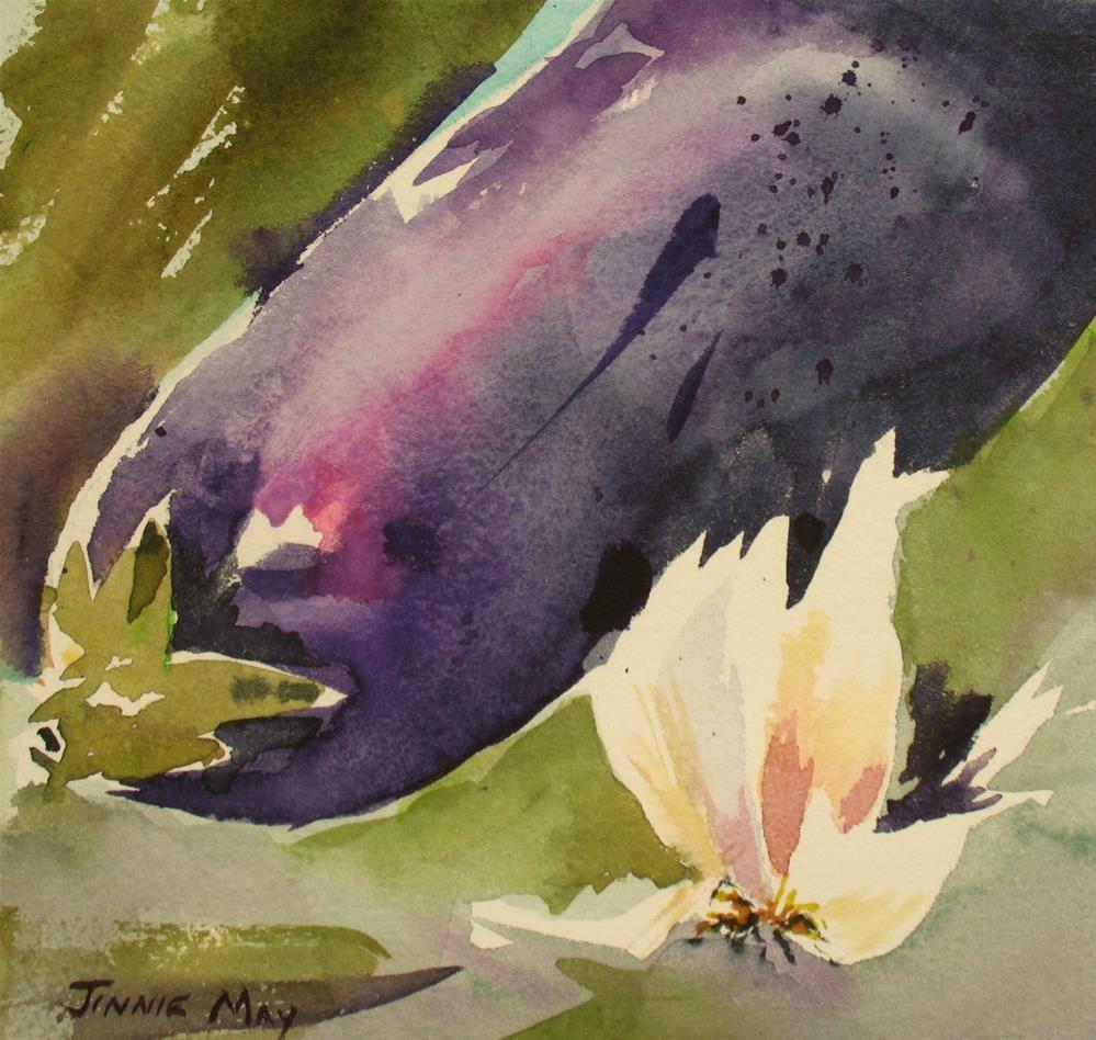 """""""Garlic and Eggplant"""" original fine art by Jinnie May"""
