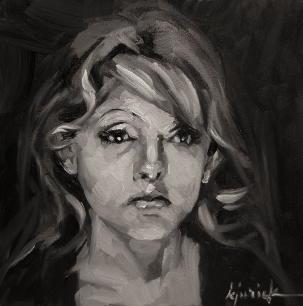 """100 Faces, No. 27"" original fine art by Karin Jurick"
