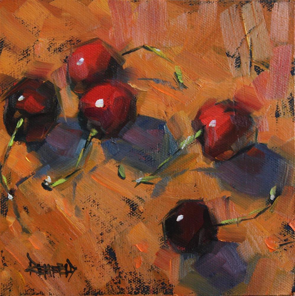 """Cherry Earth"" original fine art by Cathleen Rehfeld"