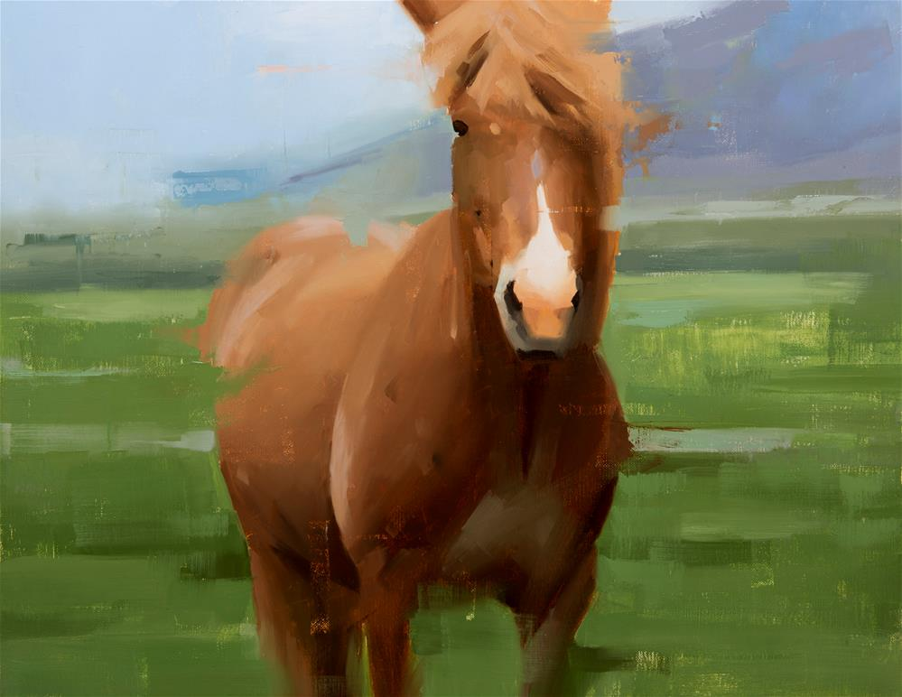 """""""Icelandic Horse 11"""" original fine art by Thorgrimur Andri Einarsson"""