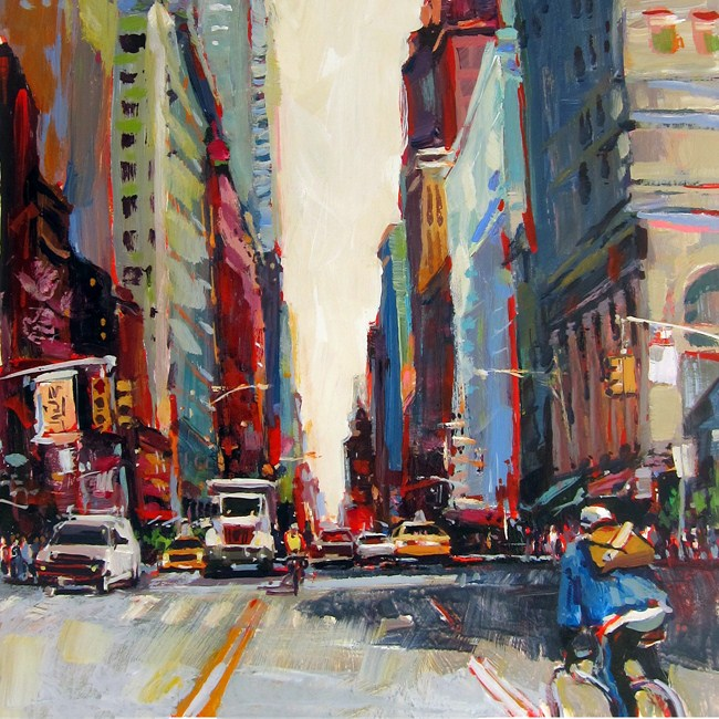 """Midtown Messengers"" original fine art by Patti Mollica"