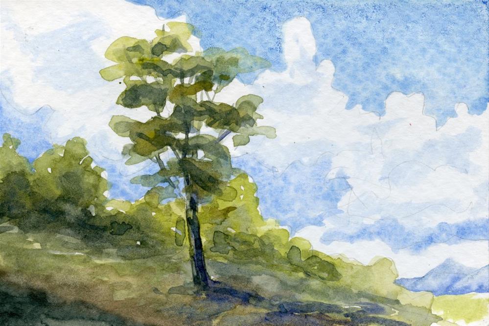 """Summer Tree"" original fine art by Eileen Hennemann"