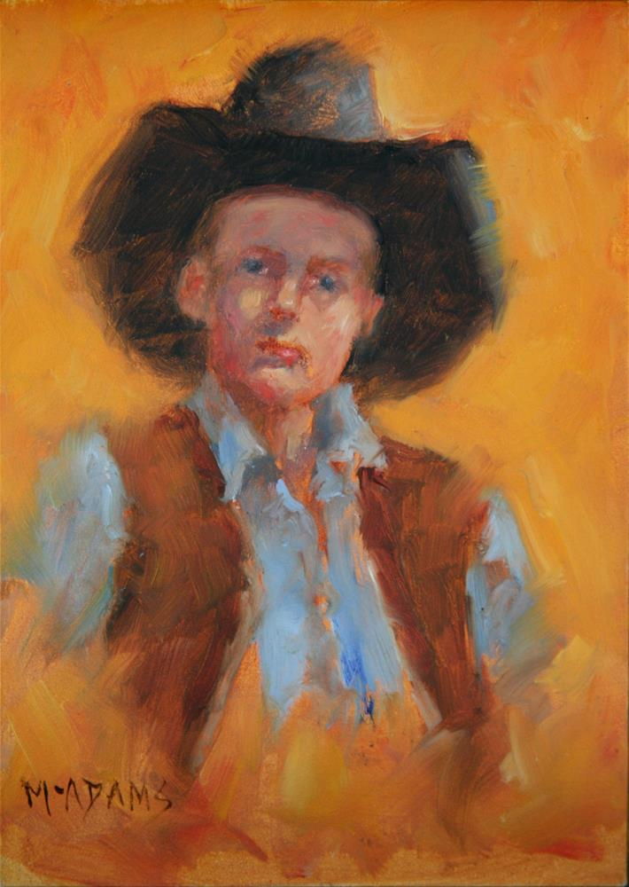 """Little Cowboy"" original fine art by Phyllis McAdams"