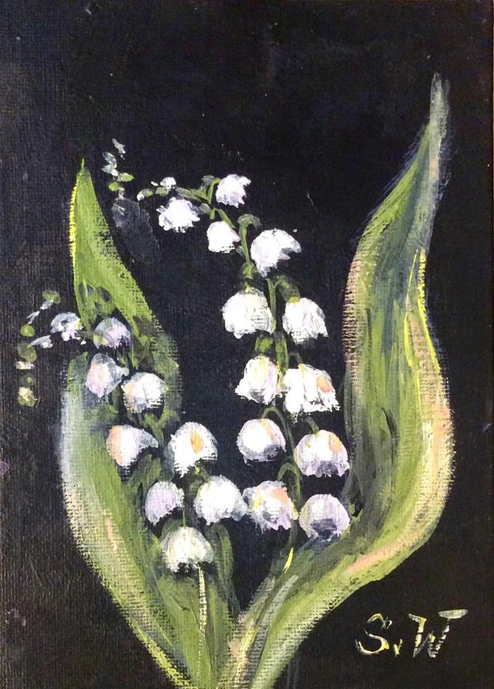 """Lily of the Valley Painting"" original fine art by Sonia von Walter"