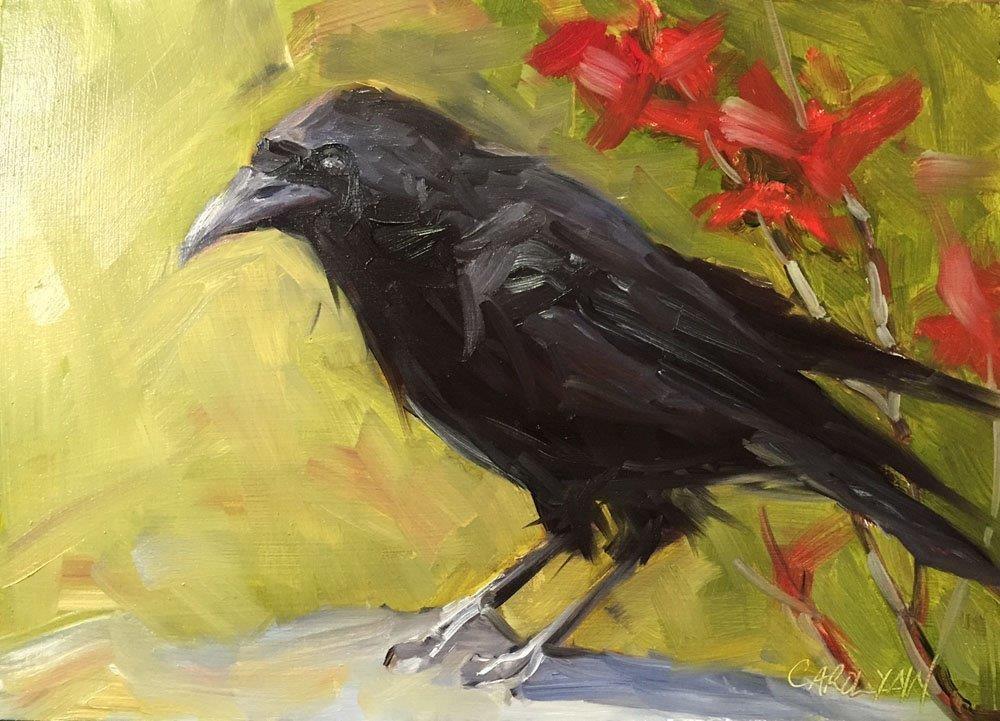 """""""Fall Feathers"""" original fine art by Carolynn Doan"""