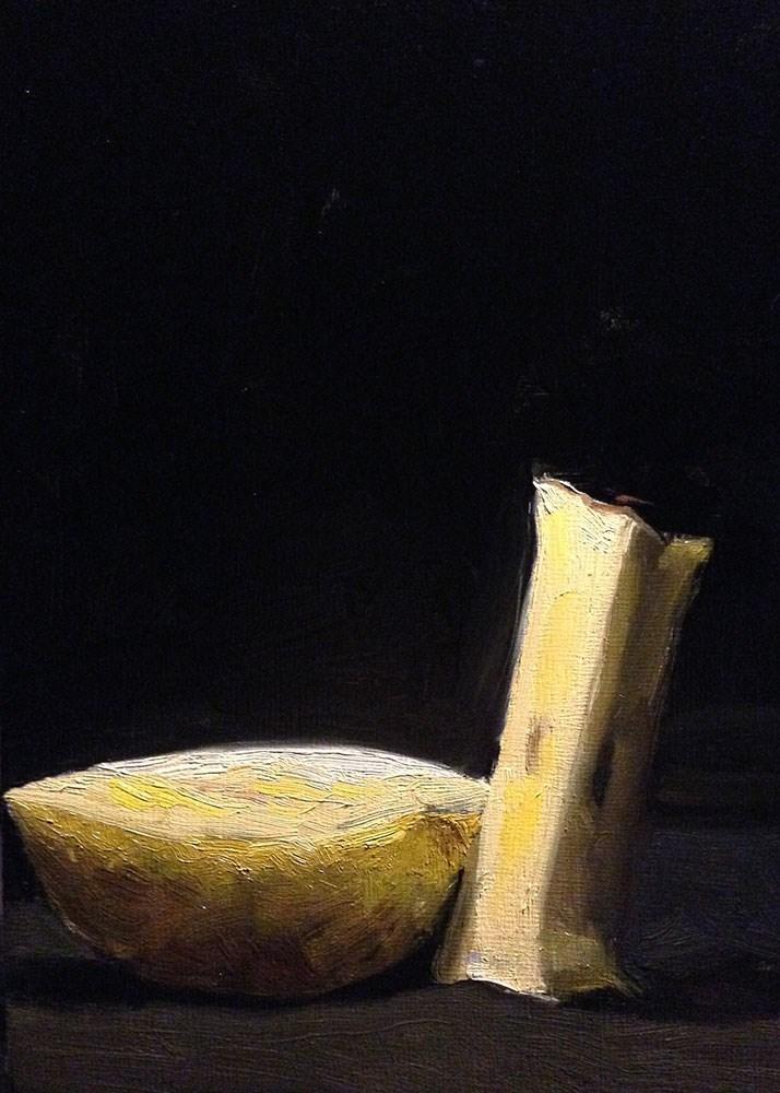 """Apple and Core"" original fine art by Chris Beaven"