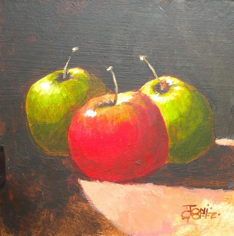 """Three Mates"" original fine art by Toni Goffe"