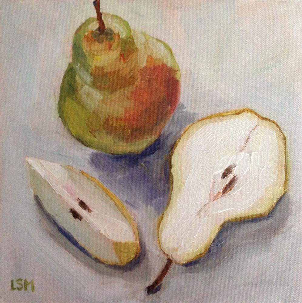 """Pear Pie"" original fine art by Linda Marino"