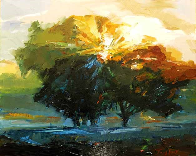 """Herbstsonne"" original fine art by Jurij Frey"
