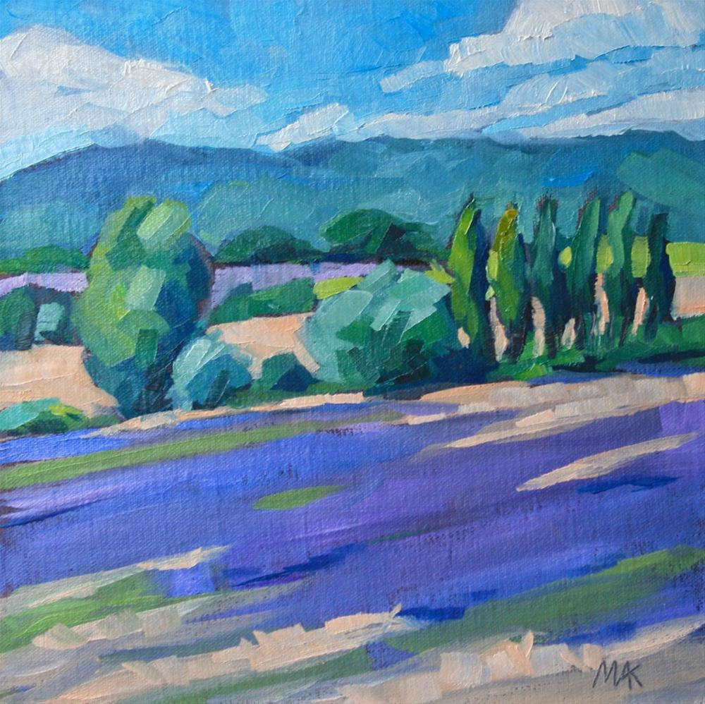 """Provence Countryside"" original fine art by Mary Anne Cary"