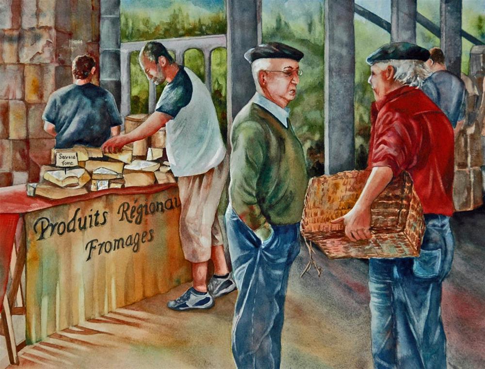 """""""Men at Work"""" original fine art by Diane Fujimoto"""
