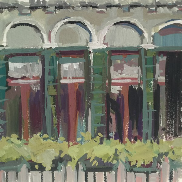 """The Pretty Palazzo Windowscape"" original fine art by Patti McNutt"