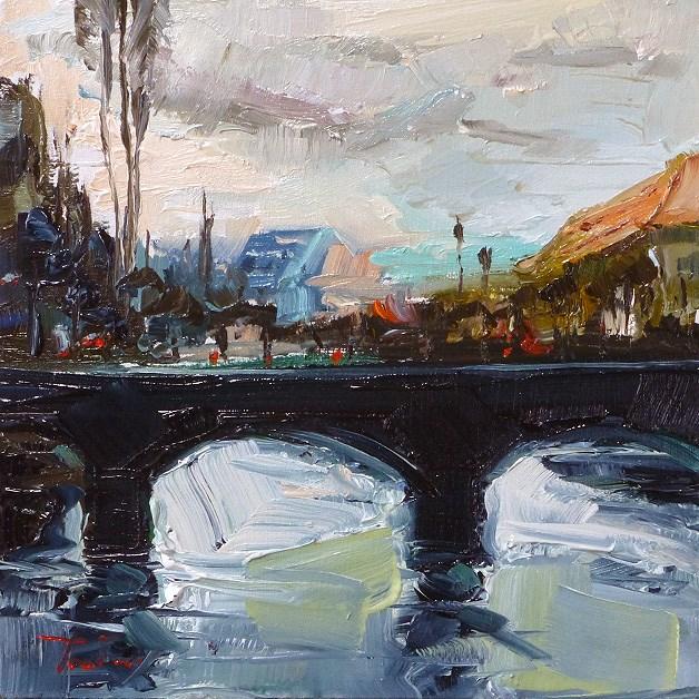 """Old Town Bridge"" original fine art by Jurij Frey"
