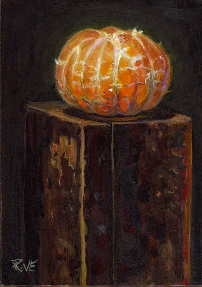"""Naked Mandarin orange"" original fine art by Ruth Van Egmond"