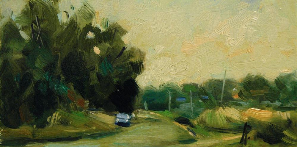 """""""Road at Climping"""" original fine art by Andre Pallat"""