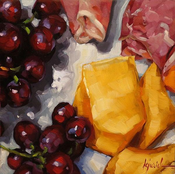 """Prosciuttaloupe"" original fine art by Karin Jurick"