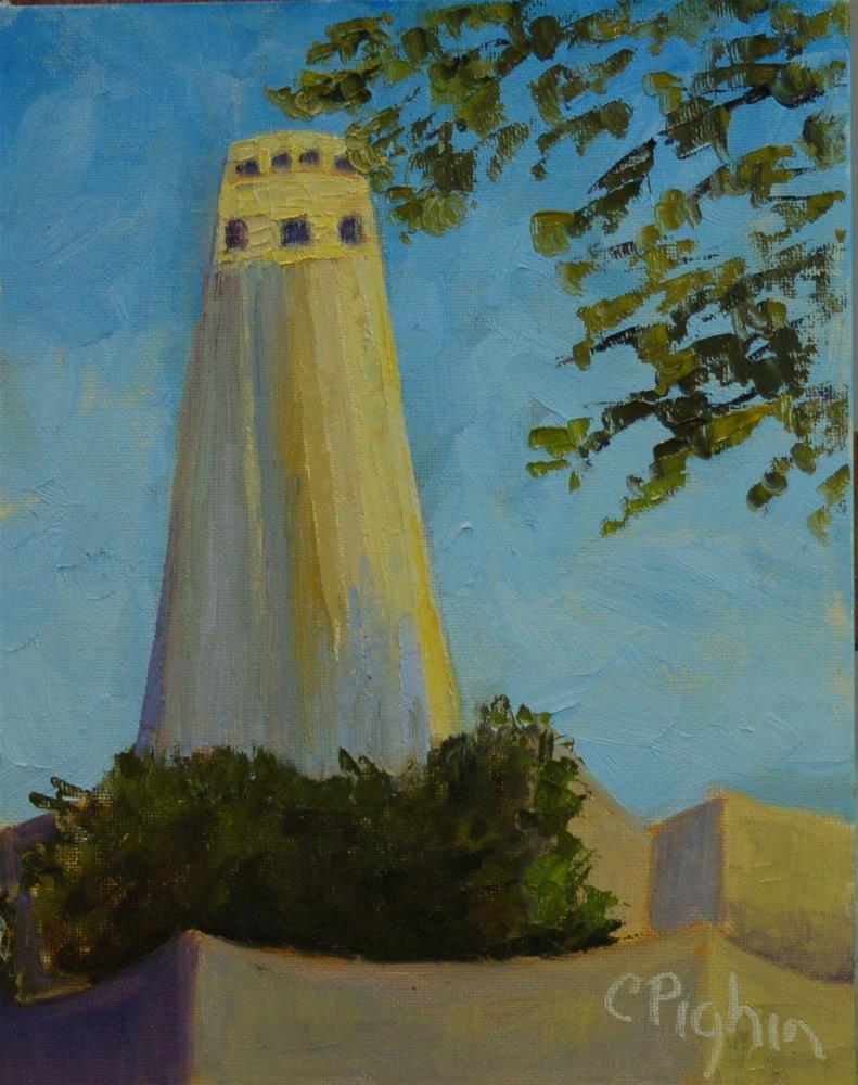 """Coit Tower"" original fine art by Carol Pighin"