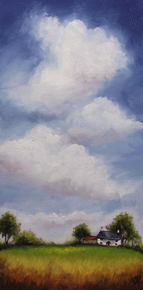 """Big Sky little cottage #2"" original fine art by Jane Palmer"