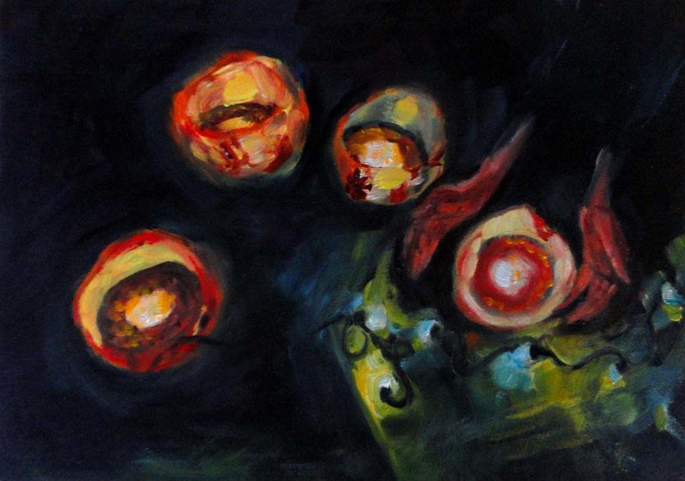 """Luminarias"" original fine art by Cietha Wilson"