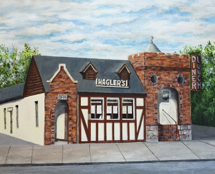 """Hagler's"" original fine art by Nan Johnson"