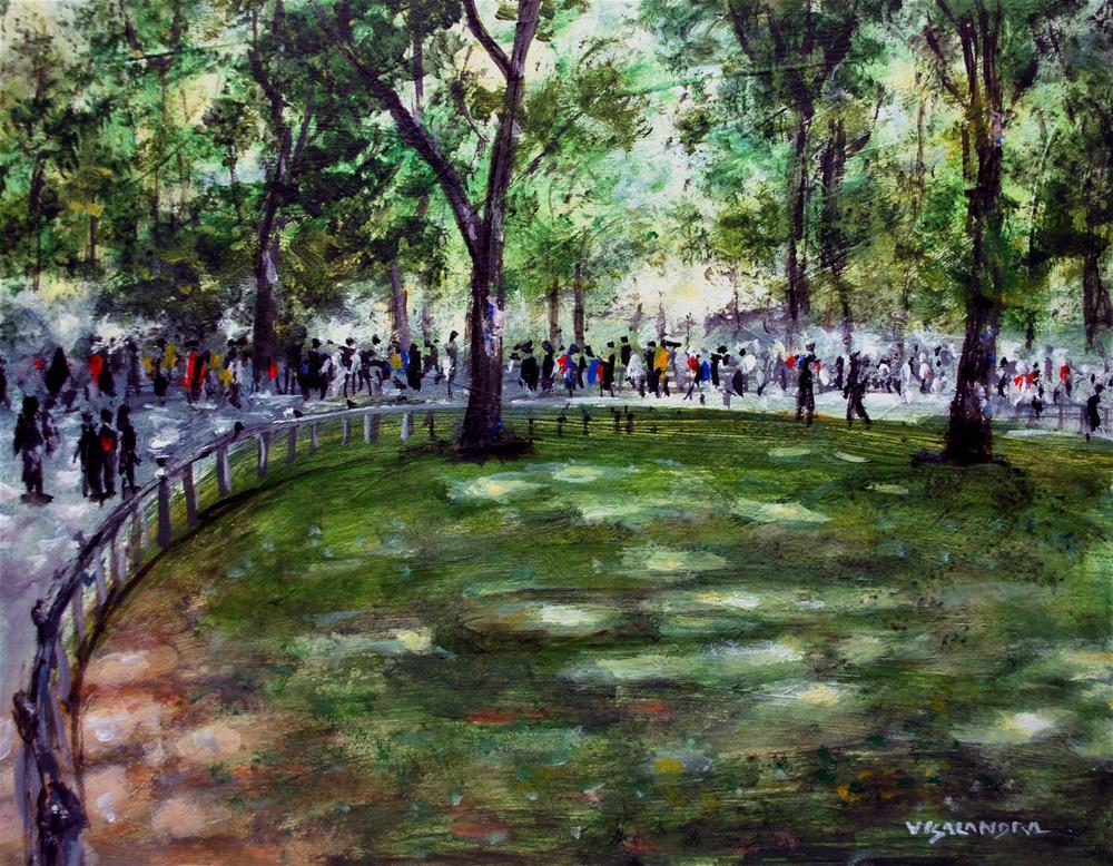 """New York Central park 3"" original fine art by vishalandra dakur"
