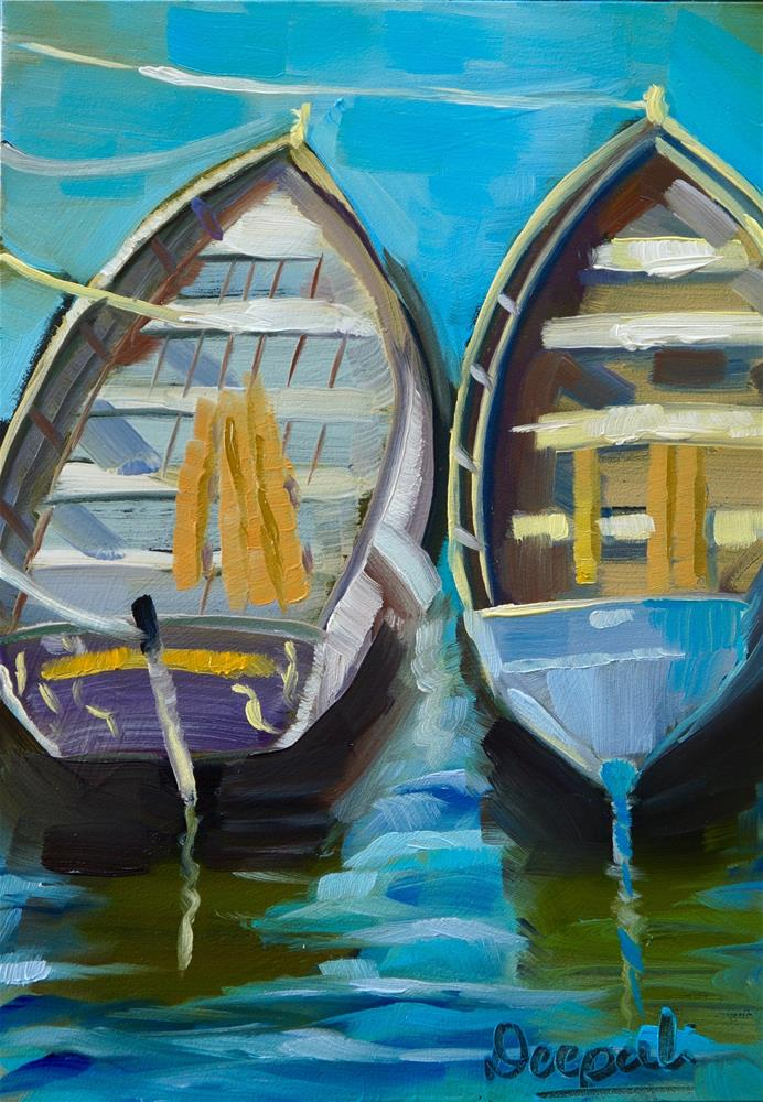 """Boats"" original fine art by Dipali Rabadiya"