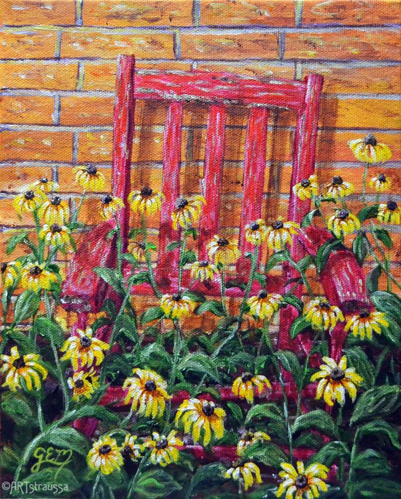 """The Forgotten Chair"" original fine art by Gloria Ester"