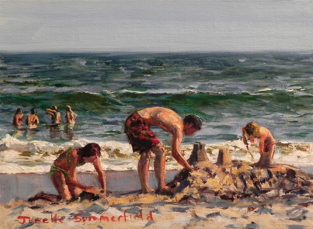 """The Construction Crew"" original fine art by Jonelle Summerfield"