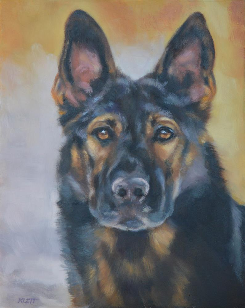 """The Sable Shepherd"" original fine art by Tracy Klett"