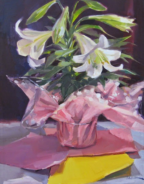 """Easter Lily"" original fine art by Sarah Sedwick"