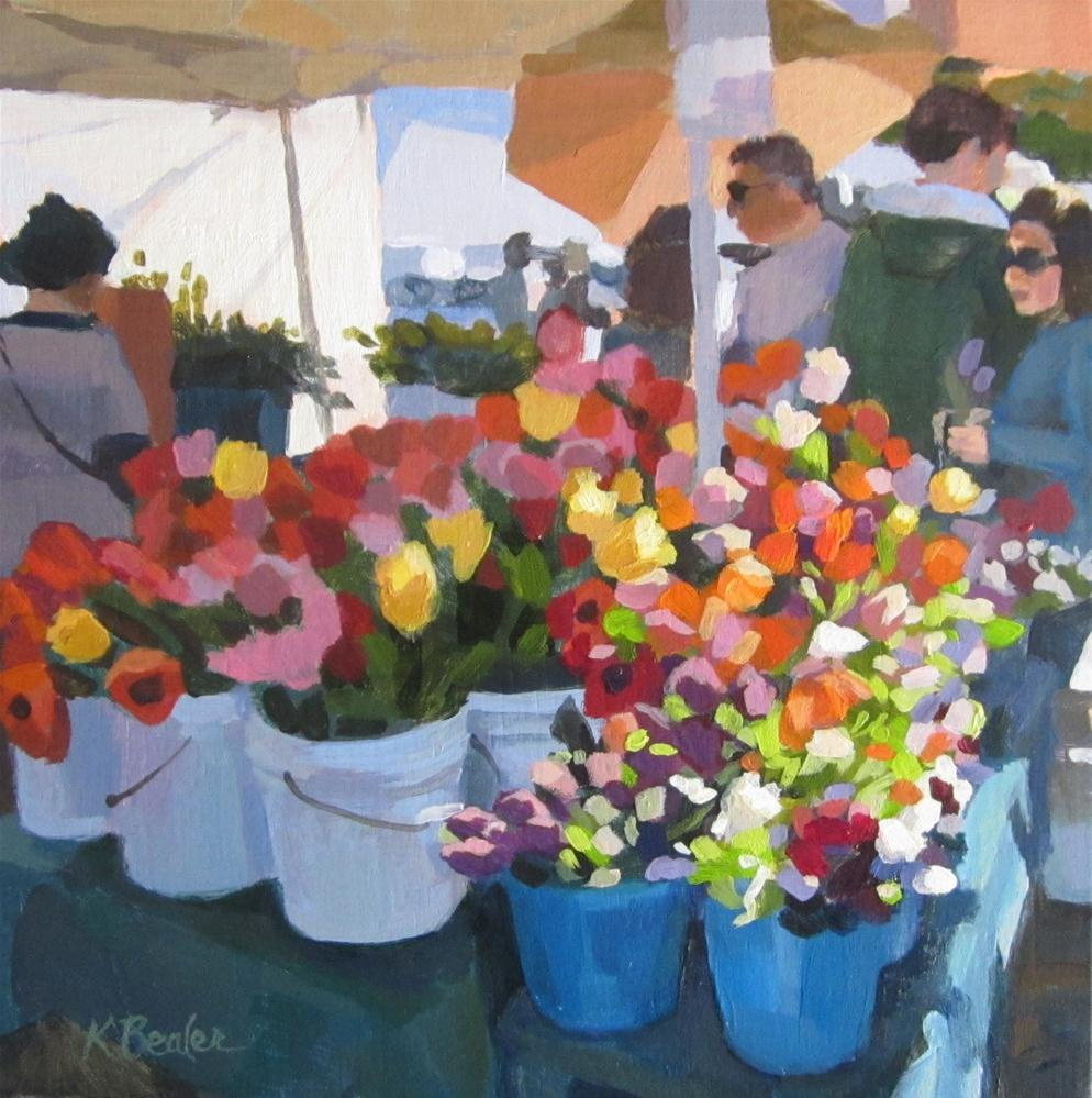 """The Flower Table"" original fine art by Kaethe Bealer"