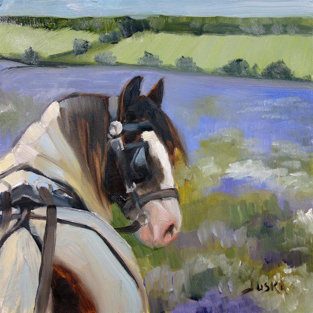 """Gypsy in the Lavender Fields"" original fine art by Elaine Juska Joseph"