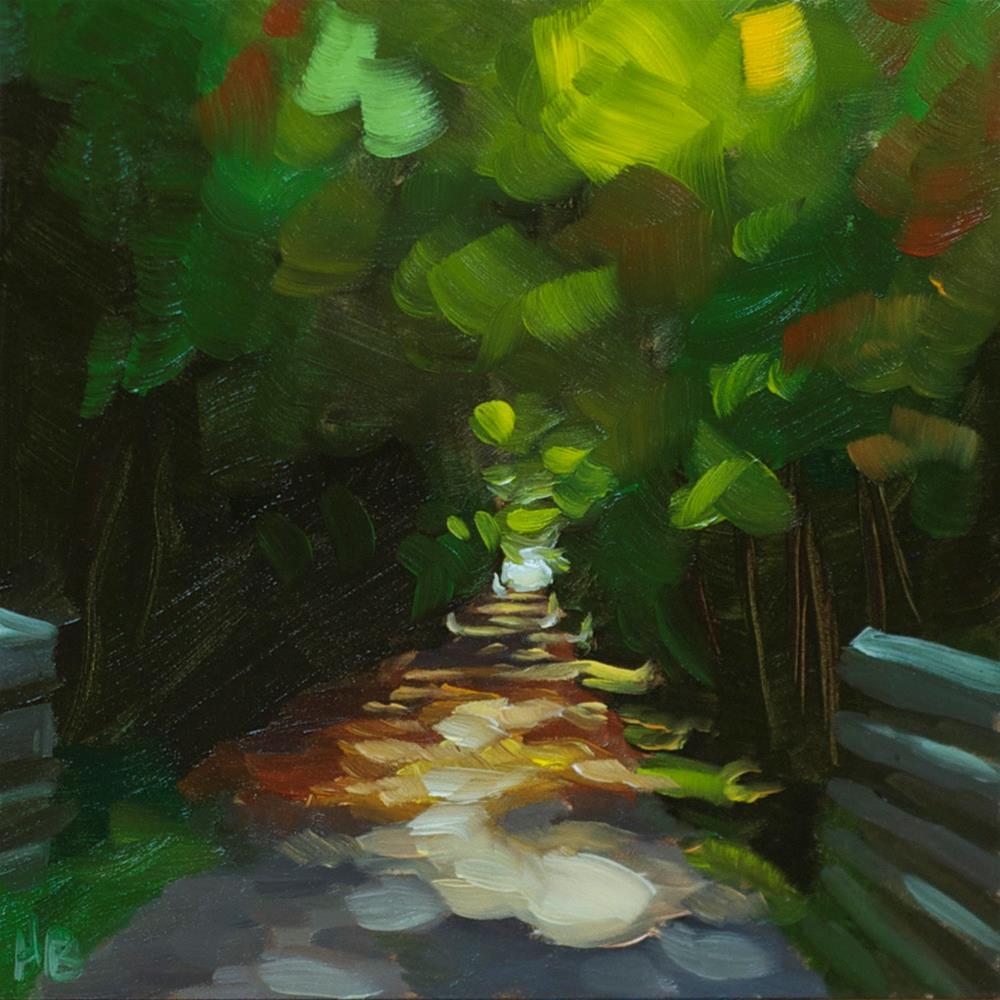 """Sunlit Towpath"" original fine art by Heather Bullach"