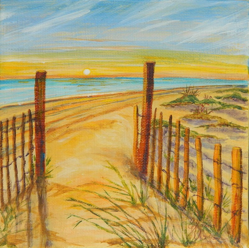 """Sunset on the Dunes"" original fine art by Gloria Urban"