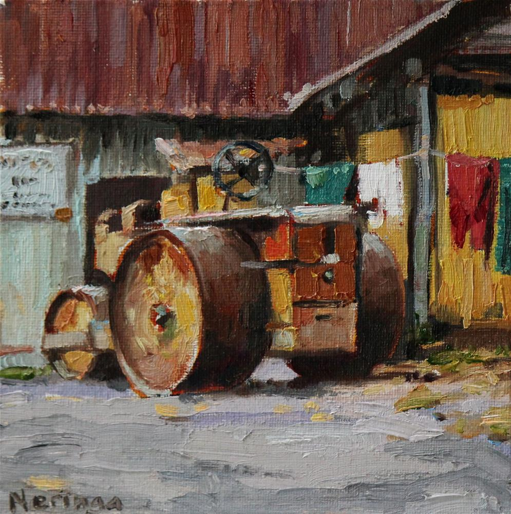 """""""Parked at Home"""" original fine art by Neringa Maxwell"""