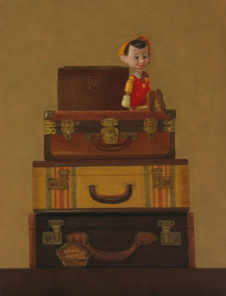 """Pinocchio's Trip"" original fine art by Susan Fern"