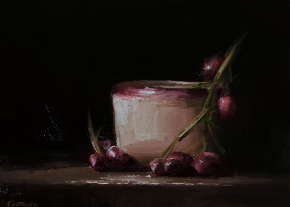 """Pot with Grapes"" original fine art by Neil Carroll"