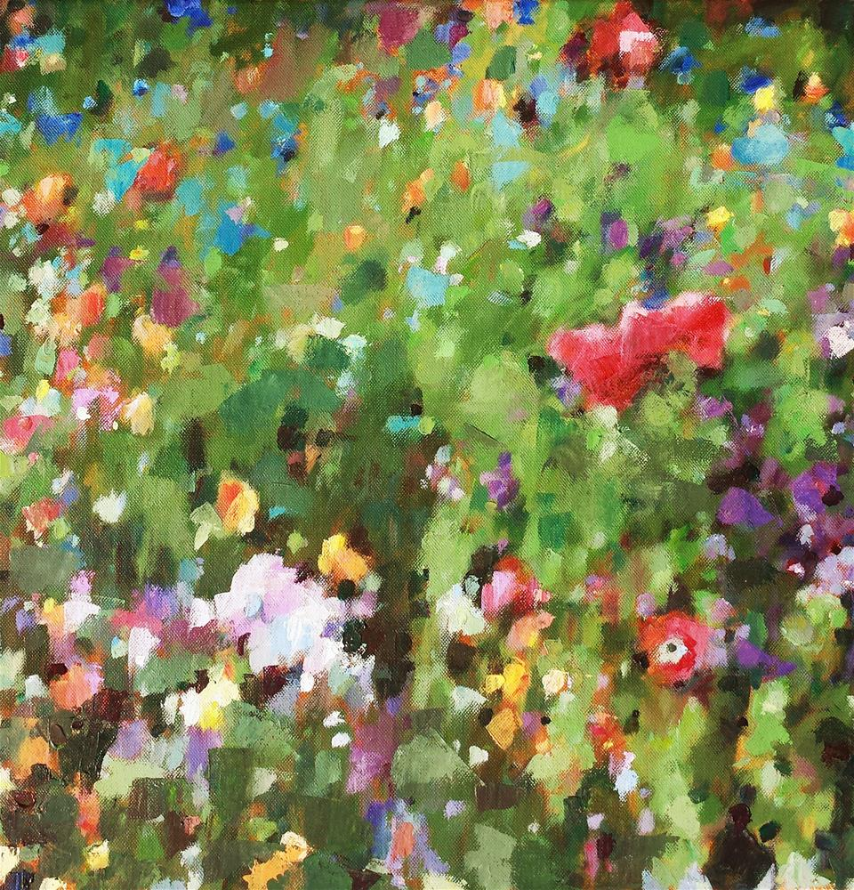 """Wildflower Abstract 1"" original fine art by Nava Judith"