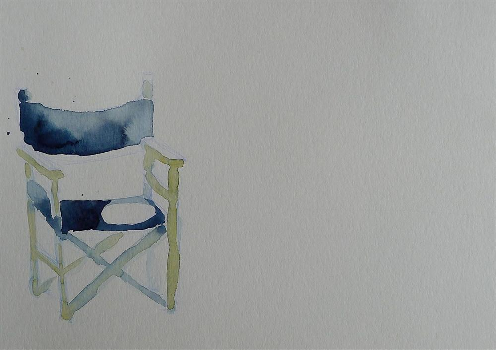 """Blue chair"" original fine art by Ulrike Schmidt"