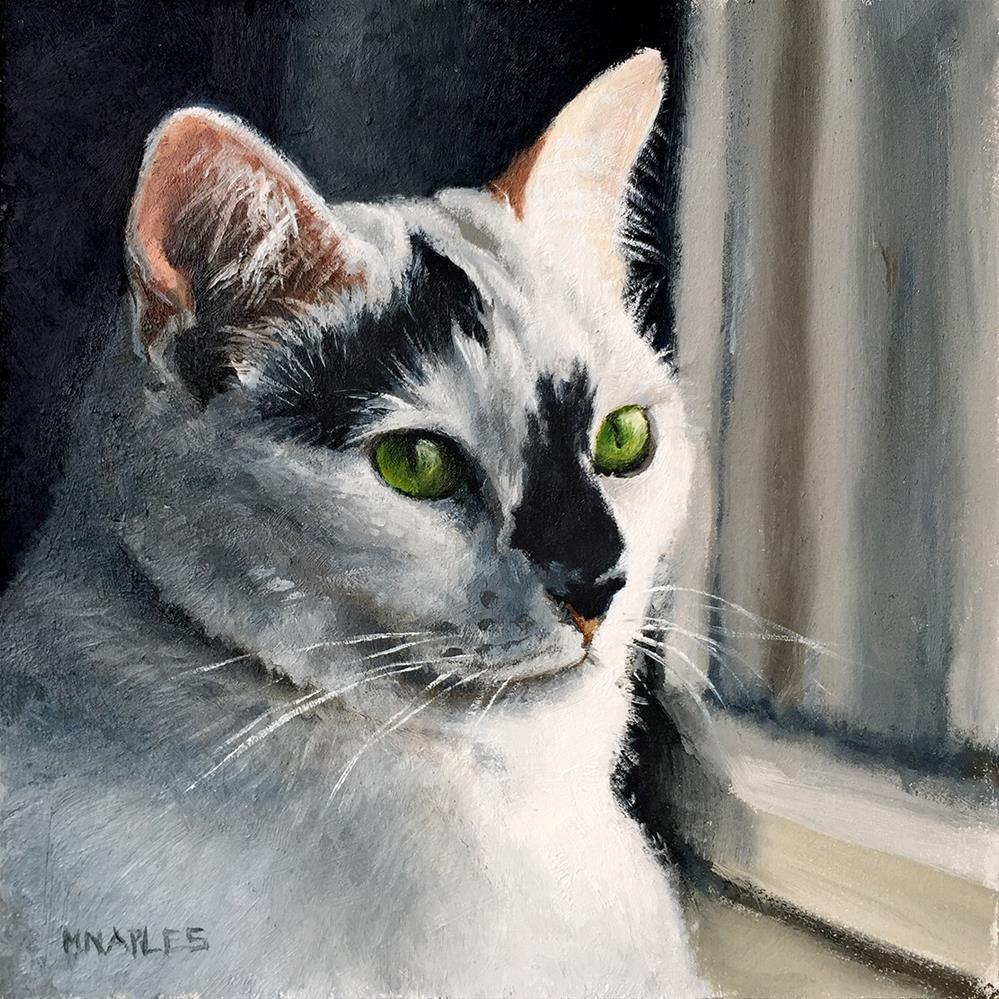 """Cat Commission No.1"" original fine art by Michael Naples"