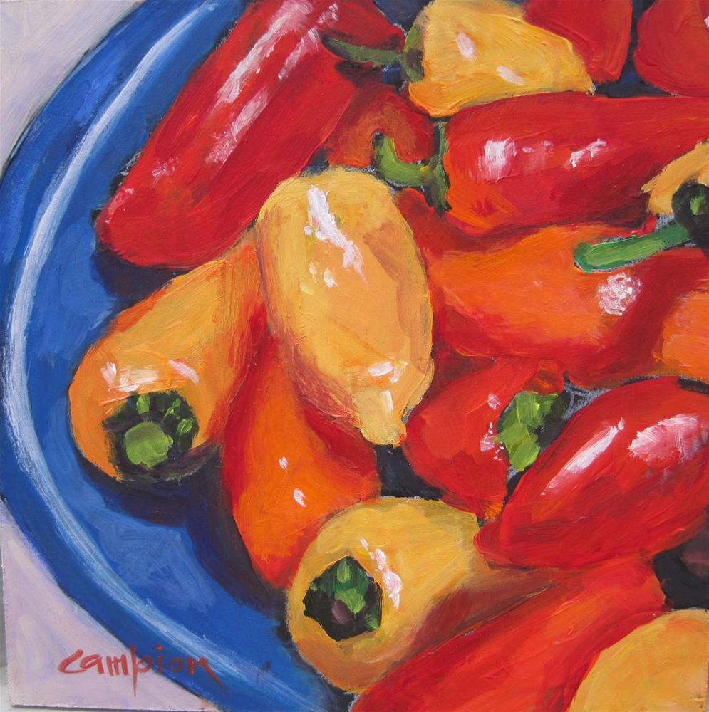 """""""137 Super Sweet Mini Peppers"""" original fine art by Diane Campion"""